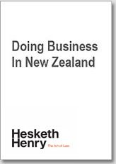 Doing Business in New Zealand - English Version
